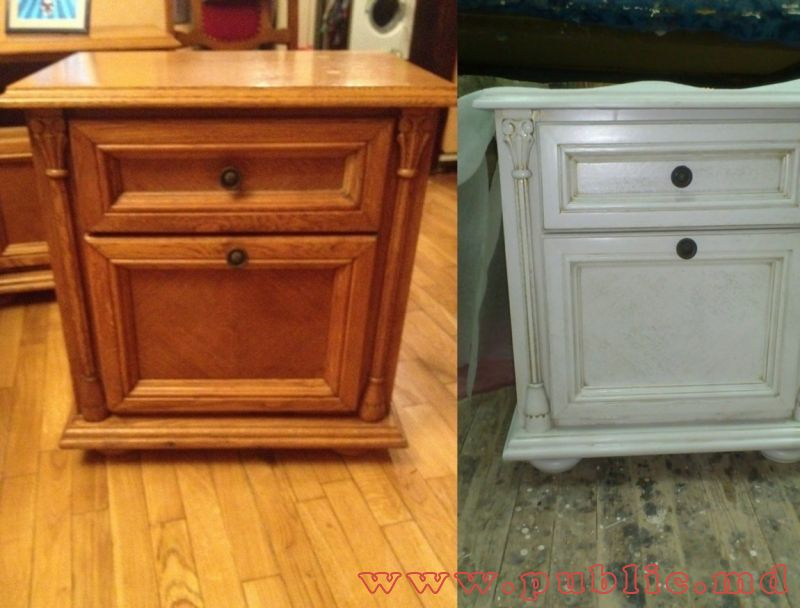 Как покрасить лакированную мебель в белый цвет